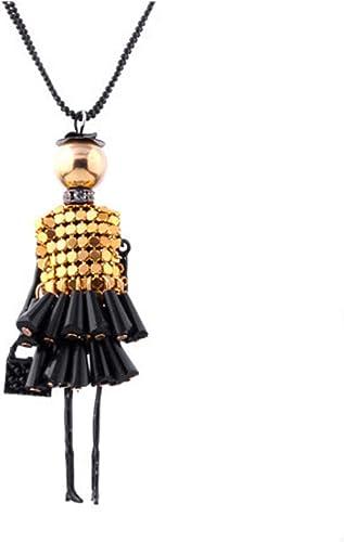 Glitz Party Wear Romantische Puppe Halsband Anh ger Halskette für M chen Geschenke Geburtstag Jahrestag