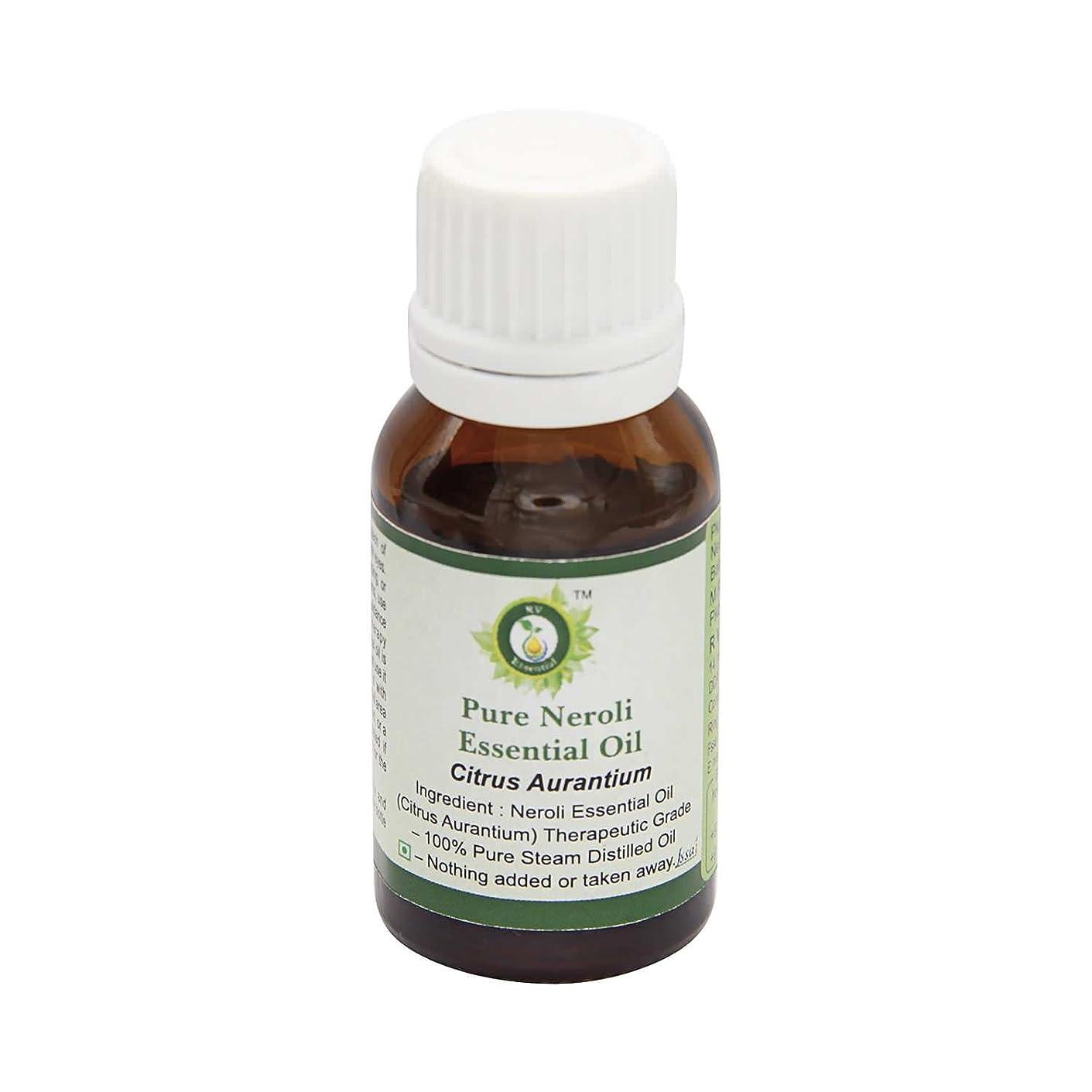 エーカー疑わしい帝国R V Essential ピュアネロリエッセンシャルオイル15ml (0.507oz)- Citrus Aurantium (100%純粋&天然スチームDistilled) Pure Neroli Essential Oil