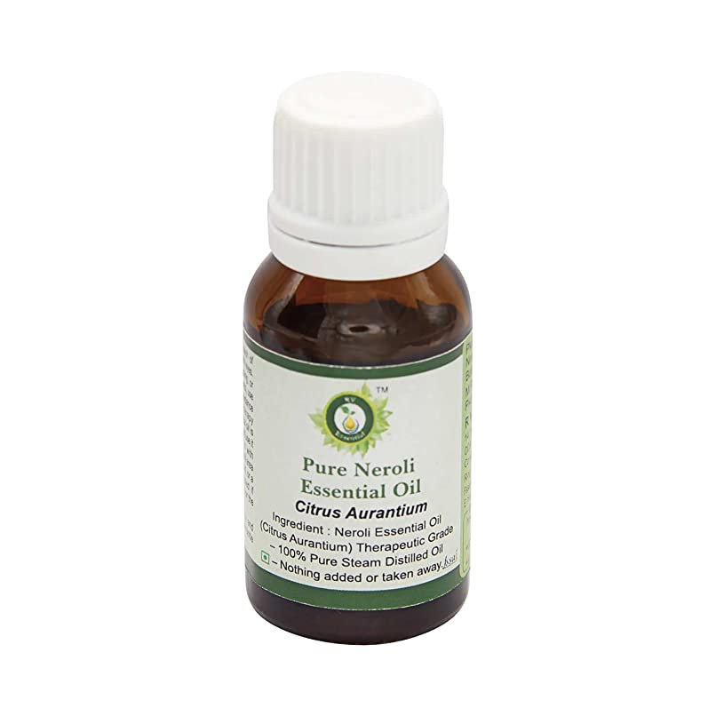 R V Essential ピュアネロリエッセンシャルオイル15ml (0.507oz)- Citrus Aurantium (100%純粋&天然スチームDistilled) Pure Neroli Essential Oil