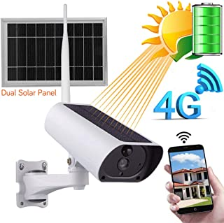 Cámara IP para exteriores bola de radio WiFi 1080P cámara de vigilancia solar IP66 4G a prueba de agua(4x zoom de audio de visión nocturna por infrarrojos)para iOS/Android para interiores/exteriores