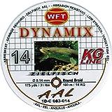 WFT Round Dynamix Aal braun 160m, geflochtene Schnur fürs Aalangeln, Raubfischschnur, braune...