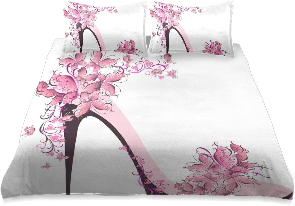 Fashion 2020 Girl High Heels Comforter Size Cover 贈り物 Queen Set