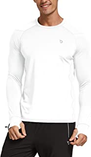 BALEAF Men's Long Sleeve Running Shirts Cool Workout T-Shirts