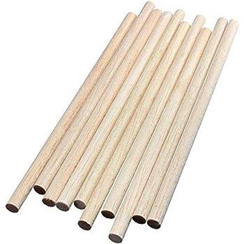 GEDOTEC Varilla redonda 8 mm bastones BEECH hechos a mano | Longitud de barras redondas 1000 mm | palos madera estables de alta calidad | Hecho alemania | troncos manualidades y jardín - 10 piezas: Amazon.es: Hogar