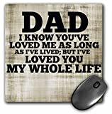 Best Dad Mouse Pads - 3dRose LLC 8 x 8 x 0.25 Inches Review