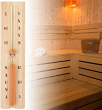 Duokon 5/10/15 Minutes Sablier de Sauna en pin, sablier précis en Bois avec Verre Robuste résistant à la Chaleur pour Le S...