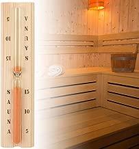 R/ésister /à lenvironnement Chaud et Humide Sable Rose Asixx Sablier Sauna 15 Minutes Sablier Mural en Bois et Verre pour Sauna