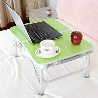 Table Notebook Laptop Desk Portable Standing Bed Sofa Table Multifunction Foldable Foot Pad Student Dorm Room Aluminum All...