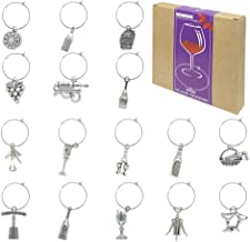 16 Piece Wine Themed Wine Glass Charms,Wine Tasting Party Decoration Supplies Gift