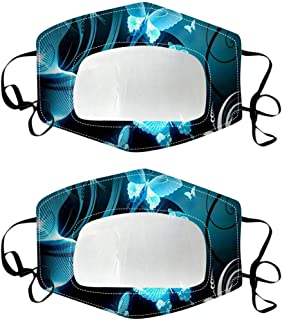 Sugarbig 2PC Stylish Face Guard with Transparent Mouth Window for Men Women, Reusable Face Guard Face Bandanas Visible Expression, Indoors and Outdoors, Suitable for Deaf and Hard of Hearing(C)