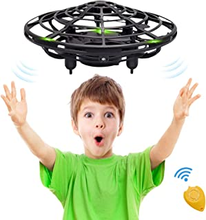 CPSYUB Hand Operated Mini Drone, Toys for 4-5 Year Old Boys, Hands Free Kids Drone Toys for Age 4, 5, 6, 7, 8, 9, 10, 11, 12 Boys / Girls, Easy Flying Ball Drone for Kids Toys Gifts (Black)