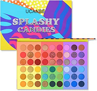 UCANBE 54 Color Eyeshadow Makeup Palette, 6 in 1 Highly Pigmented Professional Glitter Matte Shimmer Eye Shadow Powder Mak...