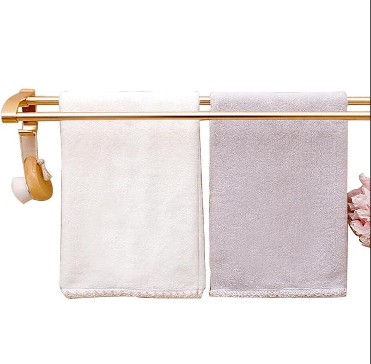 製造札入れ動タオルStandsレールラック浴室シェルフバスフックハードウェアリングペンダントSuckerタイプフリーPunchingスペースアルミバスルームラックダブルバー