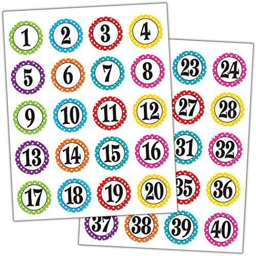 Teacher Created Resources Polka Dot Numbers Stickers (3567)