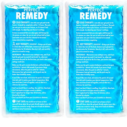Large Ice Pack for Injury (Set of 2) – Perfect Remedy Gel Cold Packs for Injuries, Pain Relief, Rehabilitation, Flexible Therapy for Knee, Shoulder, Back, Neck, Ankle