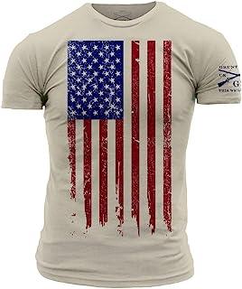 Grunt Style America Patriotic Flag Men's Shirt