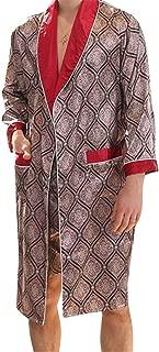 Men 2 PCS Glossy Kimono Bathrobe Robe Sleepwear Pajama Sets Sleepwear Pjs Sets