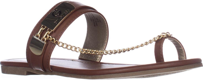 GUESS G Loren Flat Toe Loop Sandals, Medium Brown, 6.5 US