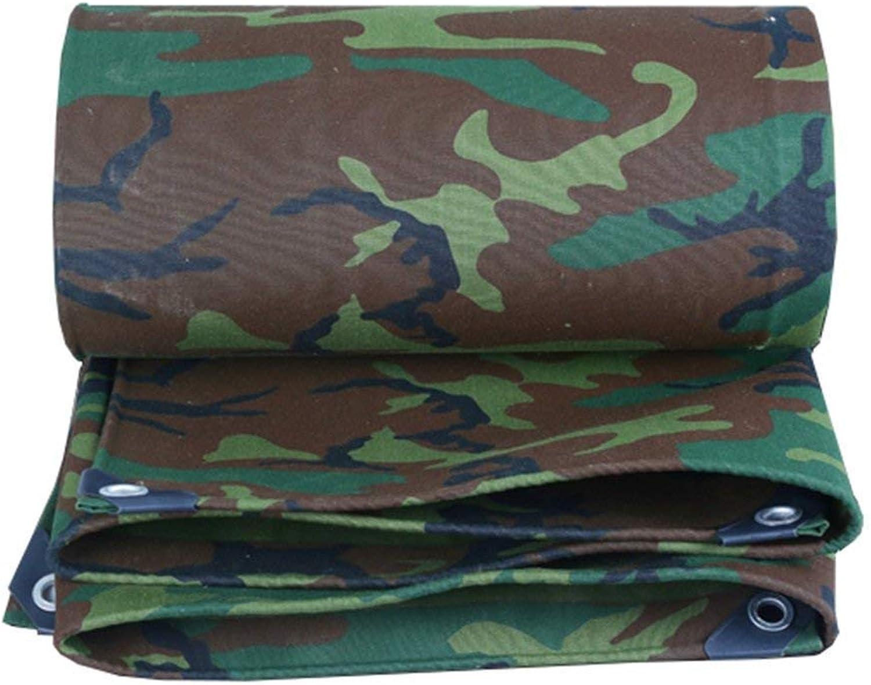 MSF Zeltplanen Schwere Plane 100% wasserdicht und UV-geschützt im Freien kampierende Camouflage Grün Sheet Plane Regen Abdeckung Stiefel Zelt , 500g   m², Dicke 0,8 mm (größe   4x4m) B07PF3FRZS  Überlegene Qualität