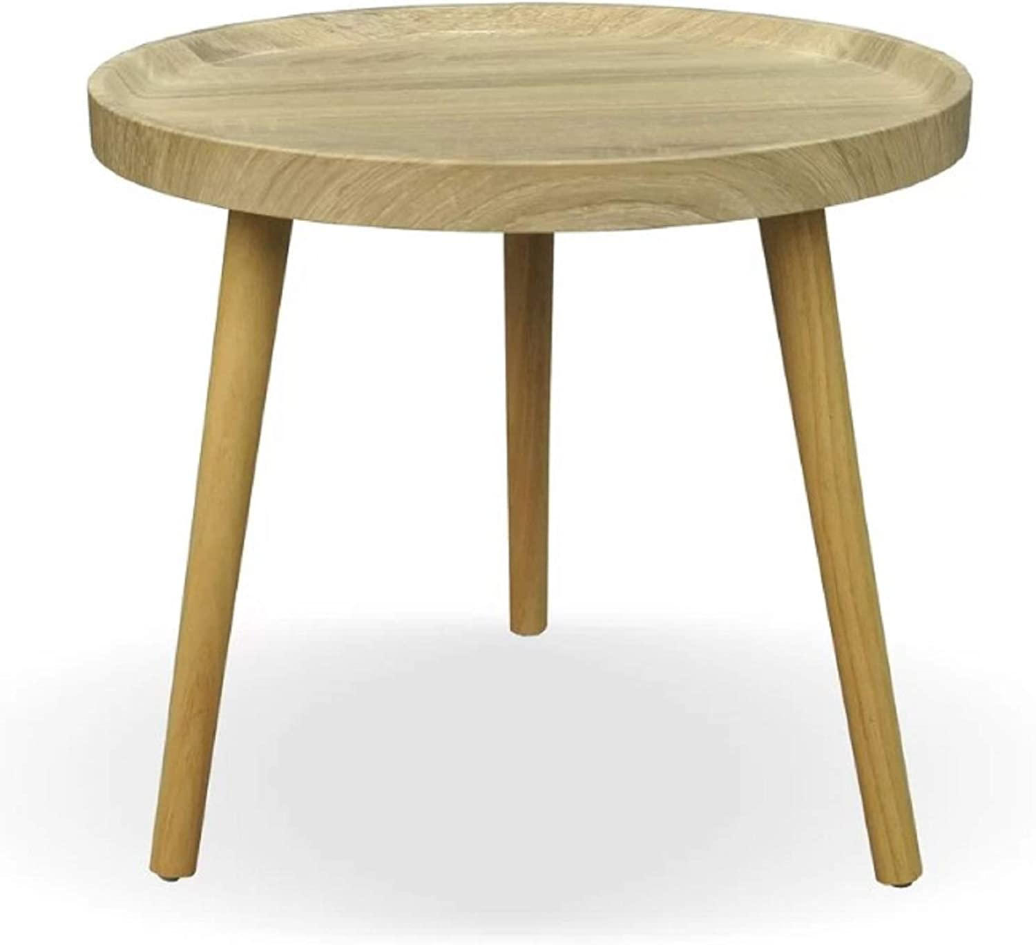 Small End Table. Oak Wood Finish Balcom Traditional Small End Table