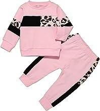 Infant Baby Girl Clothes Cute Sweatshirt Set Sweatsuit+Ruffle Sweatpants Fall Winter Outfit Set