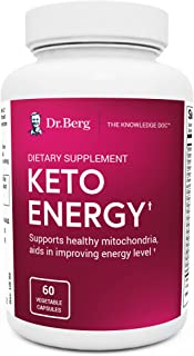 Dr. Berg's Keto Energy - Enhanced Mitochondrial Support, Nutritional Energy Supplement with Vitamins & Minerals, Alpha Lip...