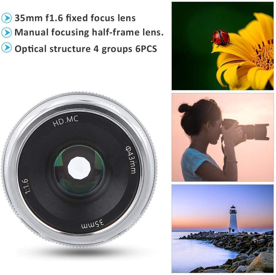 Goshyda 35-mm-F1.6-Spiegelobjektiv mit festem Fokus und Halbrahmen ...