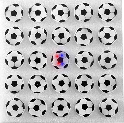 Aptafêtes - LU8981 - Carte de 25 Pins Lumineux Ballon de Foot - Taille Unique