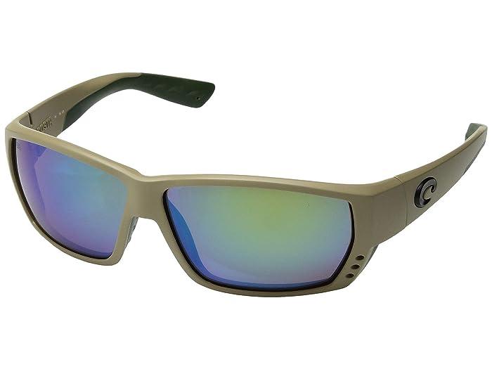Costa  Tuna Alley (Sand/Green Mirror 580G) Fashion Sunglasses