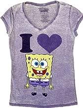 Spongebob SquarePants I Love Heart Spongebob V-Neck Juniors T-shirt Tee