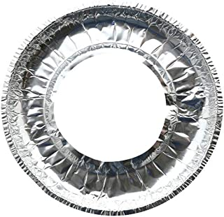 Sunnyadrain 10pcs Gas Stove Aluminium Foil Paper Clean Pad High Temperature Resistant Covers