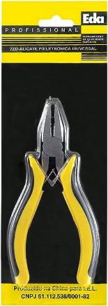 Eda, 7ZD, Alicate para Eletrônica  Universal, Preto/amarelo