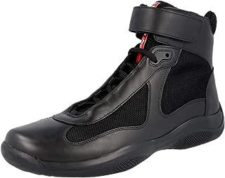 Prada Men's 4T0341 O0V F0002 Leather High-Top Sneaker