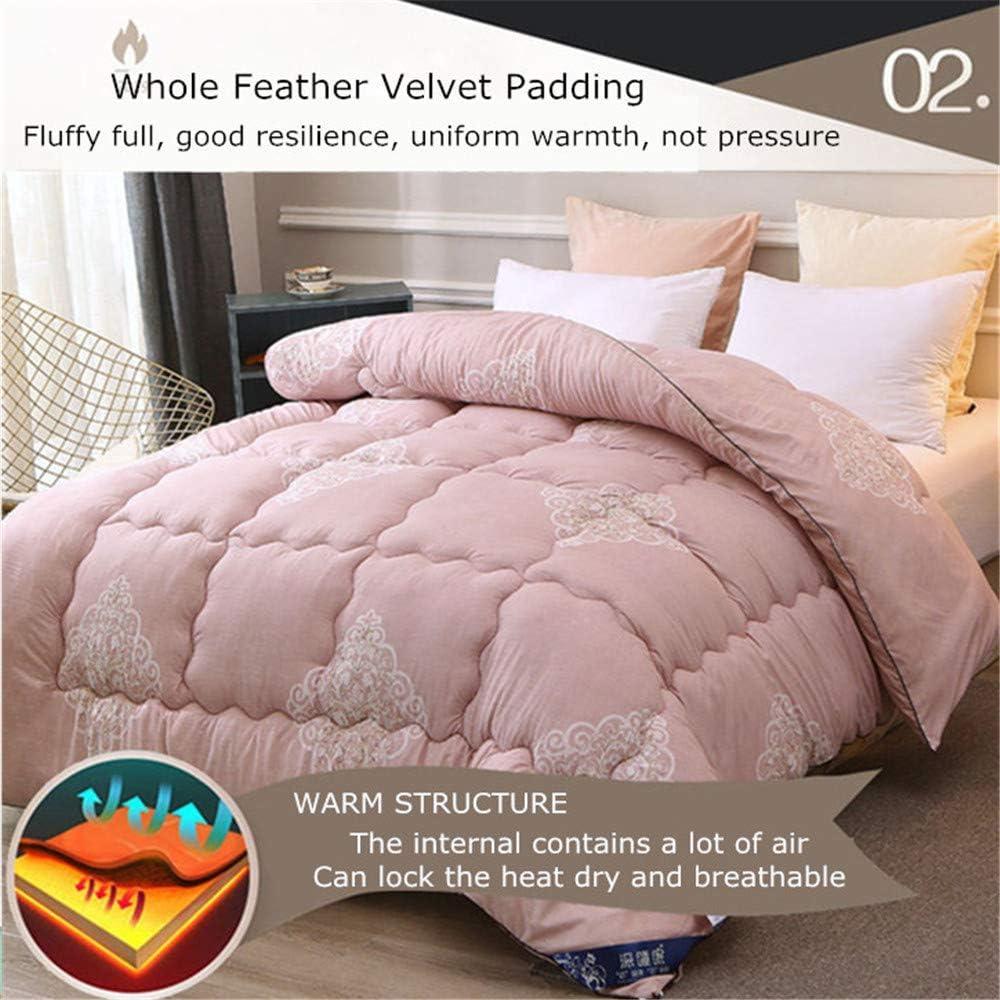 ZTBXQ Accueil Ustensiles Couette Coton Hiver Warm Duvet Core Impression réactive Couette Printemps et Automne 1.5 4 kg (6200 * 230cm 3kg) 8