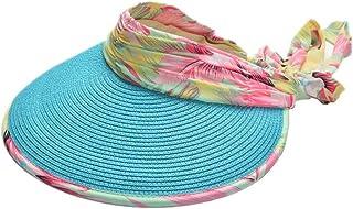 Sombrero de Verano Brimmed grande UV Ciclismo al aire libre plegable sombrero de copa vacío Sun Beach