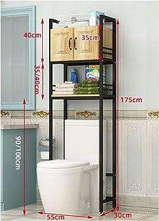 KOKOF Étagère de rangement de salle de bain avec armoire de rangement de balcon tambour machine à laver rack de sol étanch...