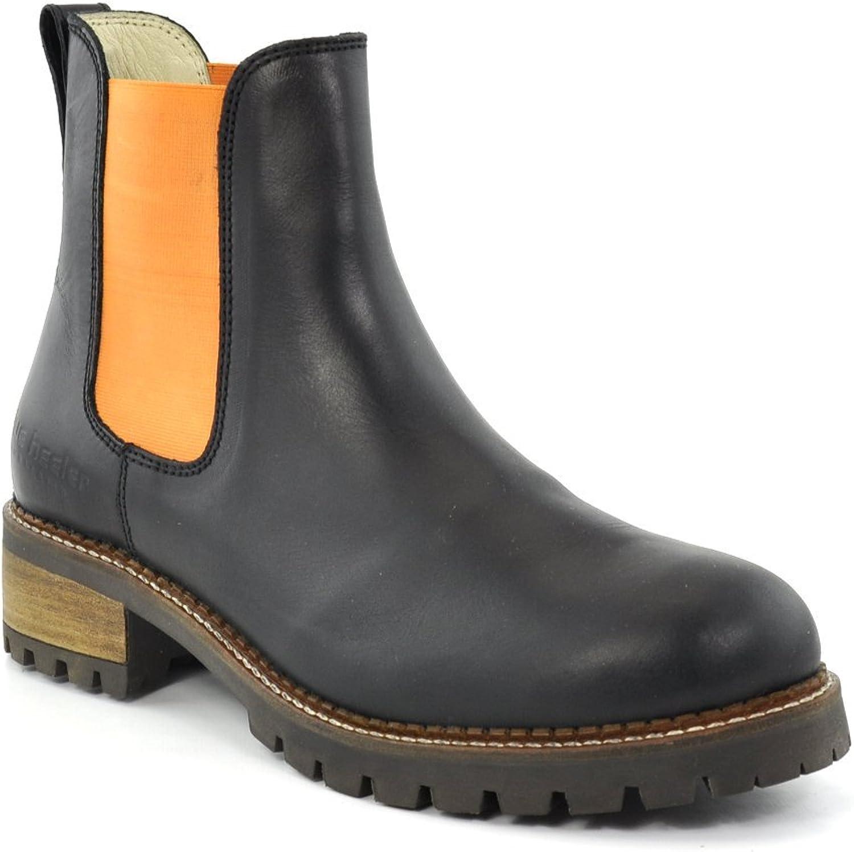 Blau heeler Chelsea Stiefel Stiefel Pash schwarz-Orange  hier hat das neuste