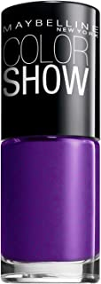 Maybelline New York Color Show Nail Lacquer, Plum Paradise, 0.23 Fluid Ounce (3 Pack)