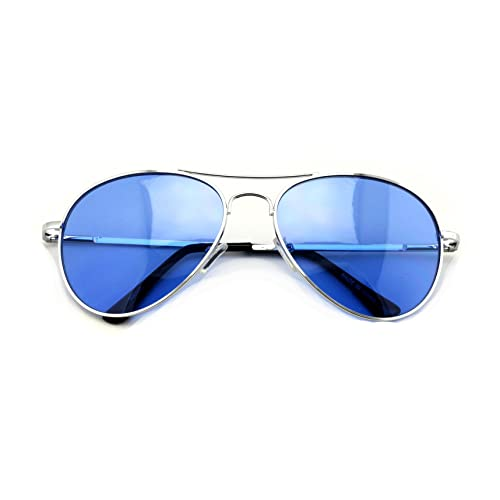 7d93d7bc2a5a VW Eyewear - Colorful Silver Metal Aviator With Color Lens Sunglasses