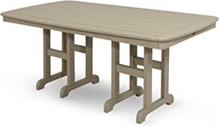 Trex Outdoor Furniture TXNCT3772SC Yacht Club Dining Table, 37 by 72-Inch, Sand Castle
