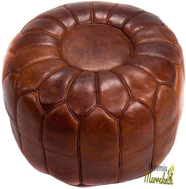 Daily bargain sale bohemiamarrakech Pouf Luxury Brown Darker Leather Our shop most popular Moroccan