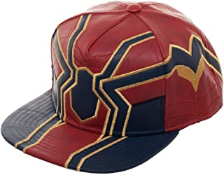 Avengers Infinity War Iron Spider Suit up PU Snapback Hat Red 7968b26dac02