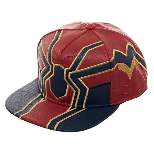 303be54ecfb7a Avengers Infinity War Iron Spider Suit Up PU Snapback Hat