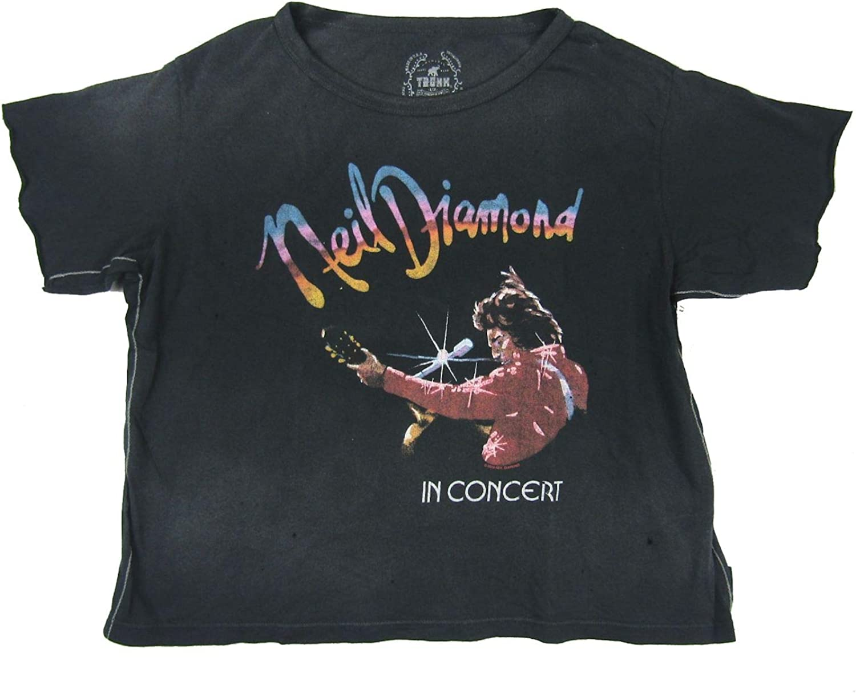 Neil Diamond Trunk LTD in supreme Concert Tucson Mall Womens T Black XS Shirt