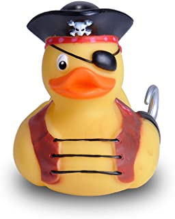 """Wild Republic Rubber Duck, Gifts for Kids, Bath Toys, Mould Free Pool Toys, Pirate, 4"""""""