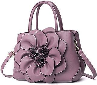 NA Leather Crossbody Bag, Purse Handbag Gift for Young Women and Teen Girls Leather Shoulder Bag Shoulder Bag (Color : Purple)