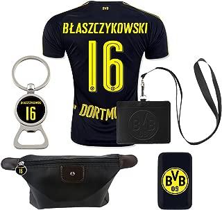 #16 Blaszczykowski (6 in 1 Combo) Dortmund Away Match Adult Soccer Jersey 2016-17
