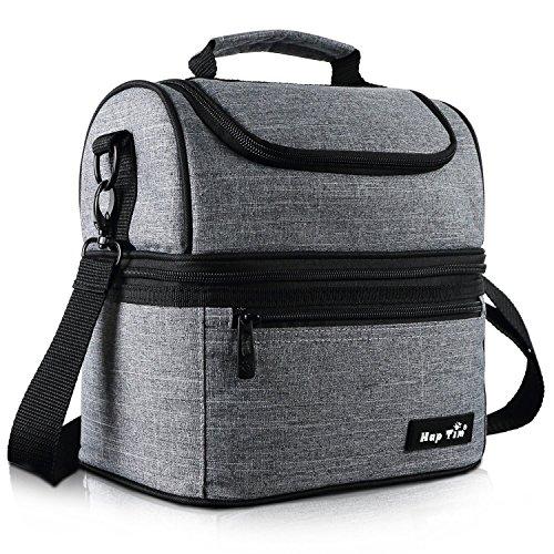 Hap Tim Sac Isotherme Repas Femme & Homme, Lunch Box Bag Isotherme Femme, Glaciere Souple Isotherme, 7.5L Sac Repas Pour Enfant Travail PiqueNique - gris