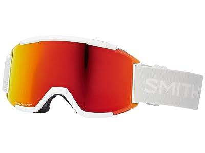 Smith Optics Squad Goggle (White Vapor/Chromapop Everyday Red Mirror/Yellow) Goggles