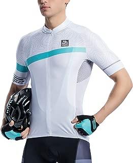 Santic Cycling Jersey Men's Shorts Sleeve Tops Bike Shirts Bicycle Jacket with Pockets Half Zip